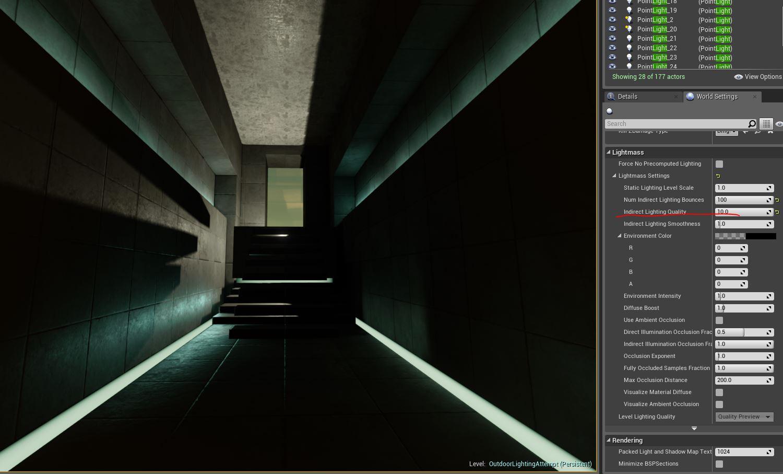 Indirect lighting quality x100