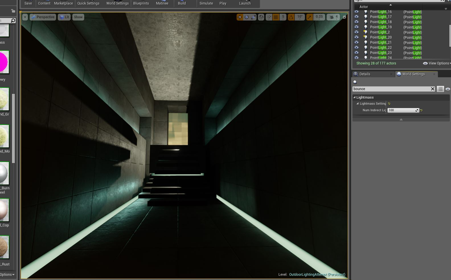 Better floor mat & indirect lighting 100