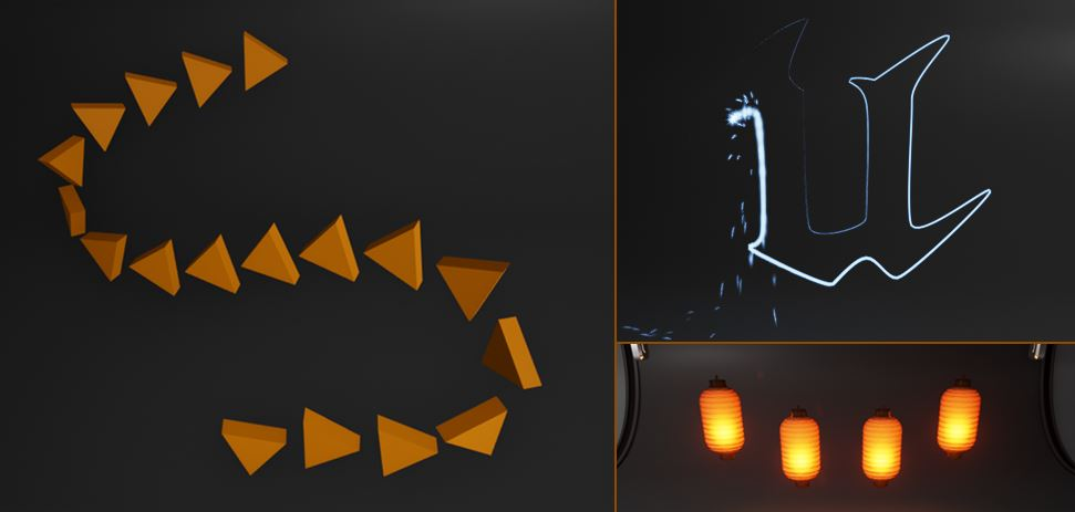 Spline component examples