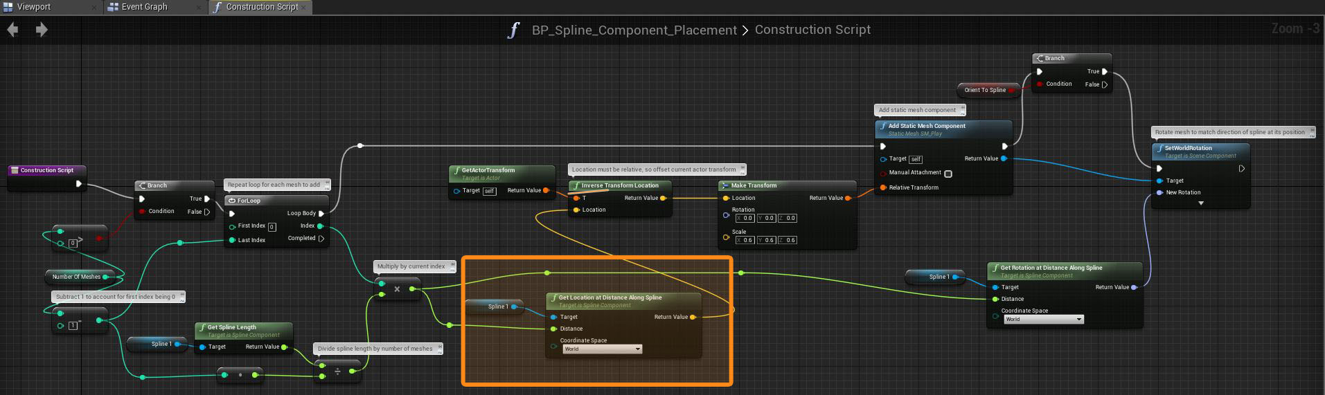 Studying spline components in unreal engine 4 example 12 screenshot 2 example 12 screenshot 3 malvernweather Choice Image